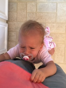 This is Edie during her 5 o'clock meltdown time. Every day around the same time she becomes inconsolable unless I'm holding her.