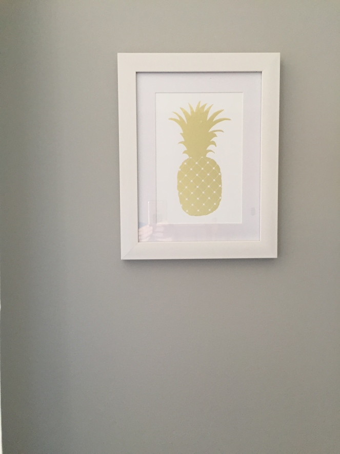 If you ever come over and the pineapple is gone, you know something has seriously gone wrong.