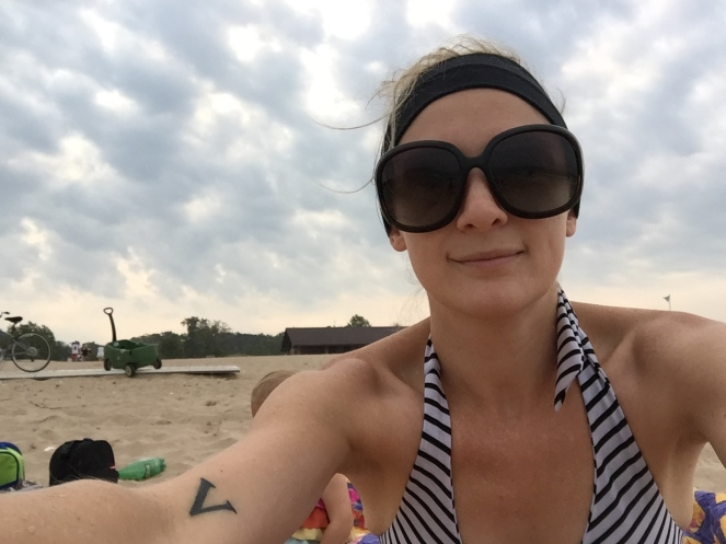 Shameless beach selfie because I'm 30 and no longer feel the need to put on any facades.